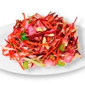 Салат «Метелка» из свежей капусты, моркови и свеклы