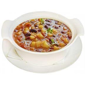 Суп «Фасолевый» с мясом птицы и зеленью
