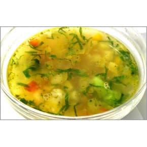 Суп «Минестроне» (куриный суп с сыром и овощами)