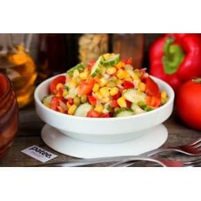 Салат «Вкусный» (яблоко, морковь, курица, лук зеленый, майонез, чеснок)