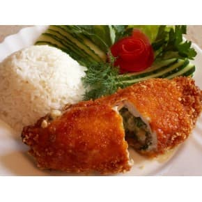 Рулетик «Особенный», рис с овощами