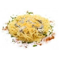 Спагетти с сыром и грибами
