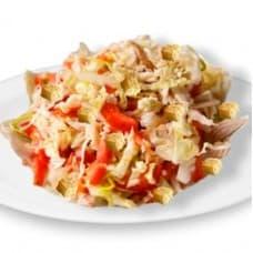 Салат «Пекинский» с курицей и грибами