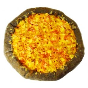 Пицца «Чёрная жемчужина» с лососем