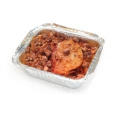 Драники «Сытные» с курицей, грудинкой, грибами и сыром
