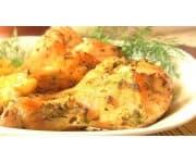 Курица карри с овощами, картофельное пюре