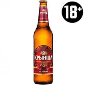 Пиво «Криница Моцнае» светлое 0.5