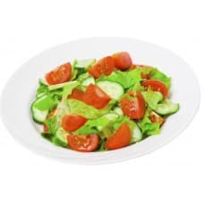 Салат «Свежесть» (пекинская, перец, помидоры, огурцы, растительная заправка)